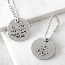 Kutuu  -  You are stronger than you think anchor keyring