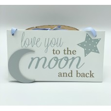 Plaque - love you to the moon and back