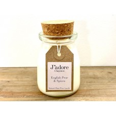 Jadore Milk Bottle Natural Wax Candle -  English Pear & Spices