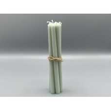 Candle - Dusty Green Tapered Candles bundle of 7