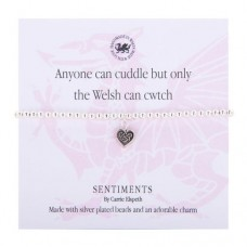 Carrie Elspeth Bracelet Anyone can cuddle but only the Welsh can cwtch